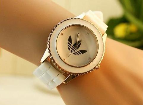 Bílo-zlaté hodinky Adidas (nové) a0fbb53a0f