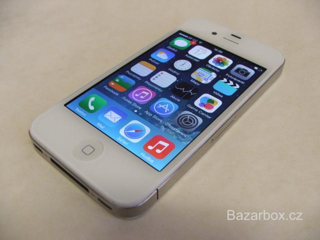 Prodám Apple iPhone 4 32gb white, TOP stav