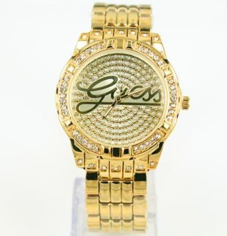 Zlaté hodinky guess (NOVÉ) - bazar  45ca5accc3